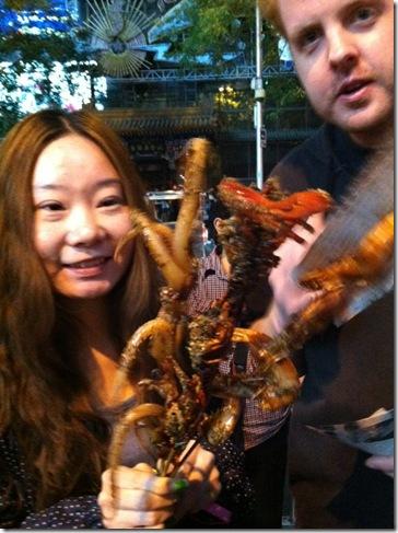 Food - seafood on a stick